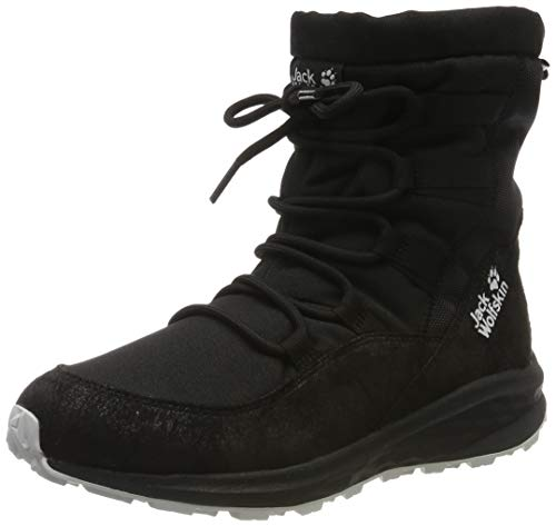 Jack Wolfskin Women's Nevada Texapore Mid W Hiking Boot, Black/Black, 8