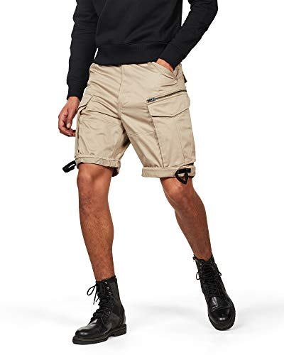 G-STAR RAW Herren Rovic Zip Relaxed 1/2-Length Shorts, Schwarz (Dune 239), 34W
