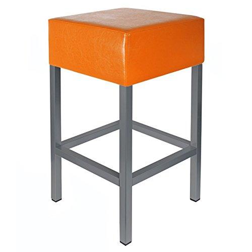 Barkruk Kaikoon oranje/antraciet Afmetingen: 34 cm x 34 cm x 82 cm