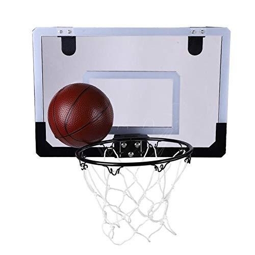 Joycelzen - Mini canasta de baloncesto para niños, juego de baloncesto para interiores y exteriores, juego de baloncesto para niños y niñas