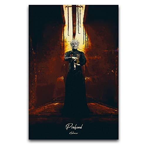 ROTOOY Horror Night Hellraiser – Pinhead Poster, dekoratives Gemälde, Leinwand, Wandkunst, Wohnzimmer, Poster, Schlafzimmer, Gemälde, 30 x 45 cm
