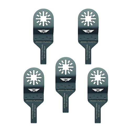 5 x 10mm TopsTools UN10F_5 Holz Schneideklingen Kompatibel mit Bosch Fein (nicht StarLock) Makita Milwaukee Einhell Ergotools Hitachi Parkside Ryobi Worx Workzone Multifunktionswerkzeug-Zubehör