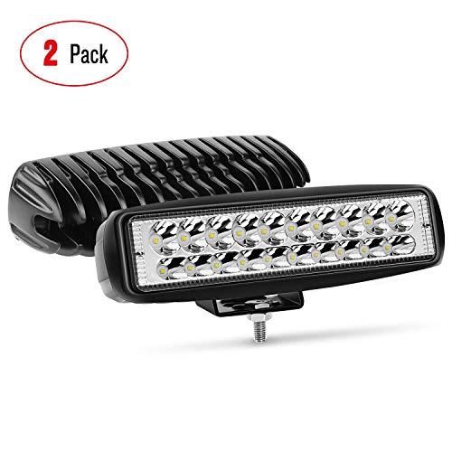 Nilight 15031S-B 2PCS 60W Spot Bar 3000LM Driving Fog LED Off Road Lights for...