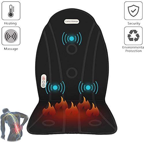Himacar massagestoel, verwarmbaar, voor de rug, met massagefunctie, perfecte bureaustoel, ergonomisch, rugpijn voor auto, ontvangst, kantoor
