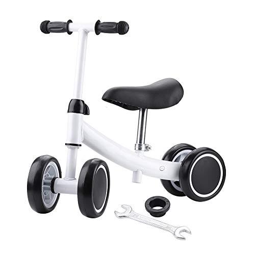 SPFOZ Capacitación De Equilibrio Mini Bike Scooter Walker Scooters para 1-2 Años De Edad Bebé (Blanco)