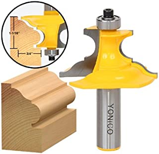 Yonico 16157 1-Inch Pedestal Base Architectural Molding Router Bit 1/2-Inch Shank