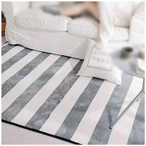Non-Slip Carpet Carpet Yoga mat Suitable for entra Living Room Bathroom Bedroom Carpet Gray Striped Blanket Guest Yoga Mat Multi-Size Non-Slip Carpet Home Fashion Carpet (Size : 150190cm)