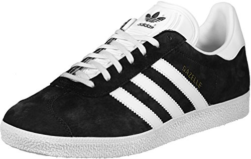adidas Gazelle, Zapatillas de deporte para Hombre, Negro (Core Black/White/Gold Met. Core Black/White/Gold Met.), 47 1/3 EU