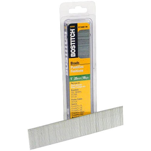 BOSTITCH 18 Gauge Brad Nails, 1-3/8-Inch, 1000 per Box (BT1335B-1M)