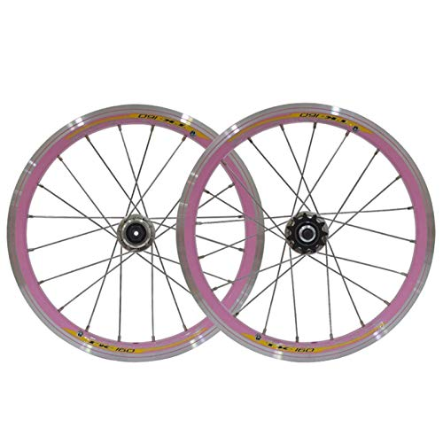 TYXTYX Ejes de liberación rápida Accesorio para Bicicleta Rueda de Ciclismo BMX Juego de Ruedas de Bicicleta de 16 Pulgadas Llantas 559x20 Freno de llanta con piñón 11T para niños/Bicicleta plega