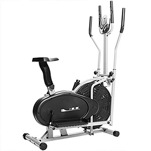 ISE Cross Trainer Elliptical Trainer 2 in 1, Exercise Bike with Seat,Cardio Training with...