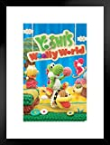 Yoshis Woolly World Nintendo Wii U Side Scrolling Platformer Video Game Cover Box Art Matted Framed Poster 12x18 inch