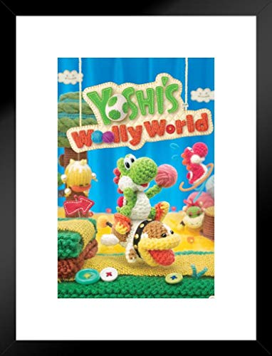 Pyramid America Yoshis Woolly World Nintendo WII U Seite Scrollen Publisher Video Game Cover Box Art 20x26 inches Matted Framed Poster