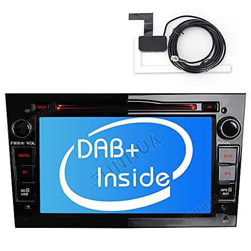 Eingautes DAB+ Autolink Autoradio DVD GPS Navigation USB SD Bluetooth 5.0 CD Dual Zone Subwoofer Für OPEL Zafira B Astra H Corsa D Meriva Vivaro Antara Signum Glanz Schwarz