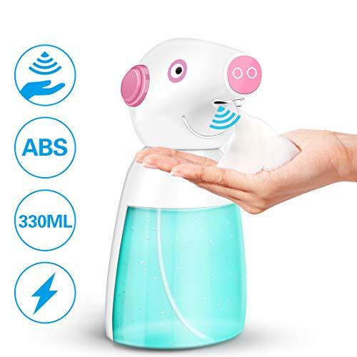 Parsion Seifenspender Automatisch mit Bewegungssensor Touchless 320mL Schaumseifenspender mit 0,5/1 mL Schaumvolumenmodus für Flüssigseife Schaumseife Spülmittel für Bad & Küche Weiß