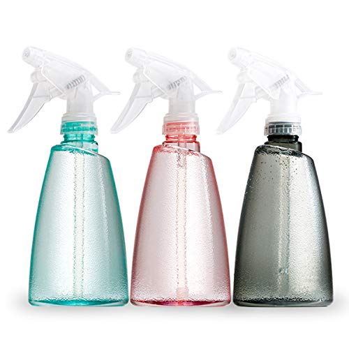 Empty Plastic Spray Bottles(3 pack)–17oz Spray Bottle, Squirt Bottle, Plastic Spray Bottles for Cleaning Solutions, Hair, Essential Oil, Plants, Refillable Sprayer with Mist and Stream Mode