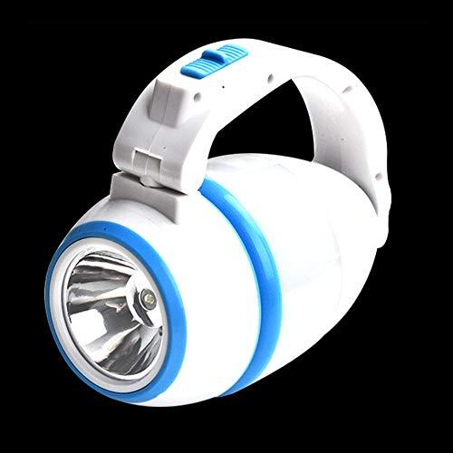 EggshellHome kampeerlicht, draagbare hoofdbuitenzaklamp met drie functies in één lamp, voor kamperen, verlicht wandelen, zolder, hal, stroomuitval, blauw