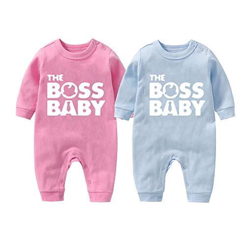 YSCULBUTOL Body de bebé Twins Set El jefe Baby Twins Outfit Body Infantil con sombrero
