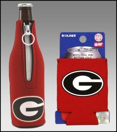 Set of 2 (Georgia) Bulldogs CAN & Bottle Cooler