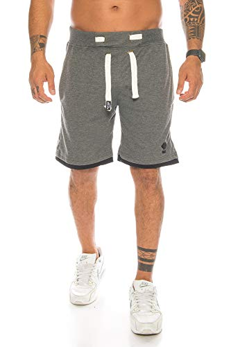 Raff & Taff Sport Joggen Training Shorts Fitness Kurze Hose Jogging Hose Camouflage Shorts Bermuda Tarnhose (S, Anthrasit(2893))