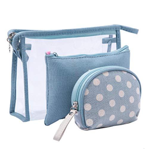 Xuyichangzhishi Bolsa de cosméticos de PVC transparente 3PCS impermeable y a prueba de moho lavado bolsa de almacenamiento de viaje cosmético caja de belleza-05