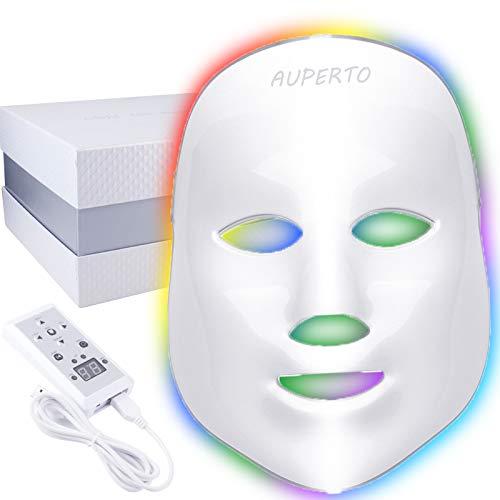 Verbesserte LED Gesichtsmaske - 7 Farben Lichttherapie Photonen Maske für Gesicht Anti-falten Akne Entfernung