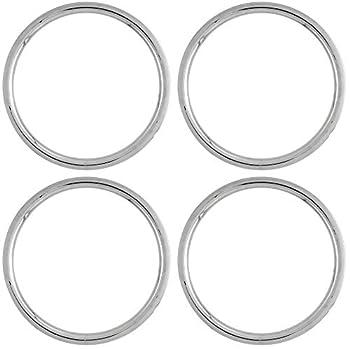 OxGord Trim Rings 16 inch Diameter  Pack of 4  ABS Plastic Flat Beauty Rims Wheel Hub