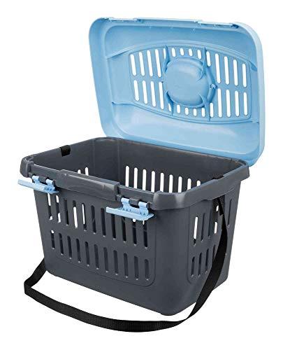 Trixie 3979 Midi-Capri Transportbox, 44 × 33 × 32 cm, blau/grau - 4
