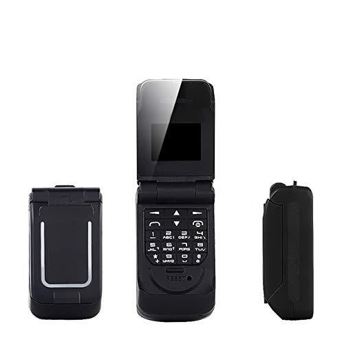 No application UNIWA Bluetooth Mini Flip Phone Single SIM Card 64 * 48 Pixeles Pantalla de alta definición Radio FM BT Dialer 300mah Tiempo de espera pequeño Flip teléfono móvil