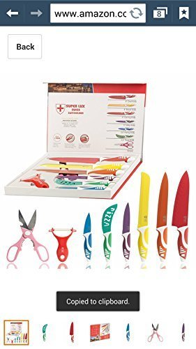 Superlux 7 Pcs Swiss Knife Set - Non-Stick Coating Multi-Coloured Variety of sizes and types for all sorts of uses