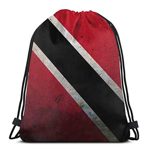 Mochila con cordón de pulpo bolsa de gimnasio bolsa de cincha bolsa de cadena bandera de Trinidad y Tobago