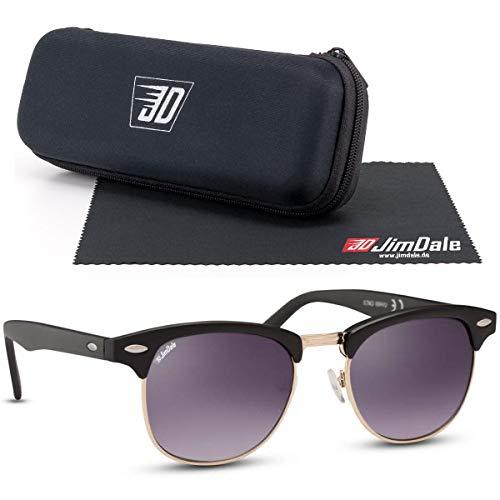 JD Jim Dale Browline Club Vintage Retro UV400 - Gafas de sol para hombre y mujer Negro Talla única