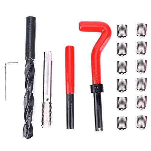17 Stücke M12x1,5 Gewindereparatursatz Gewindehülse Gewindereparatursatz Edelstahl Innengewinde Reparatur Zubehör Sortiment Kit Gewindeeinsatz Werkzeug