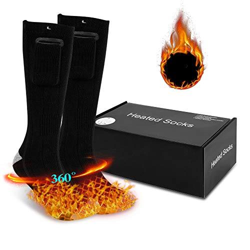 Laiashley - Calcetín térmico con 3 modos de calefacción, recargable, lavable, para esquí, pesca, caza, camping, senderismo, etc.