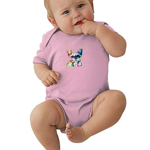 Frenchie-French-Bulldog Baby Boys Pijama Unisex Romper Baby Girls Body Infant Kawaii Jumpsuit Outfit 0-2t Niños,Rosa,0-3 Meses