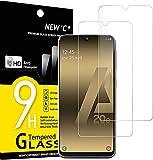 new'c 2 pezzi, vetro temperato compatibile con samsung galaxy a20e, pellicola prottetiva anti graffio, anti-impronte, durezza 9h, 0,33mm ultra trasparente, ultra resistente