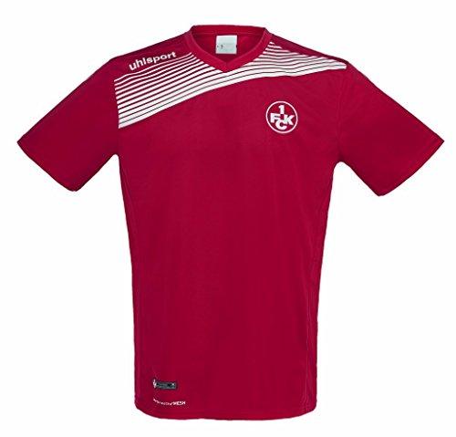 uhlsport Herren FCK Liga 2.0 Poly T-Shirt 16/17, Chilirot/Weiß, 140