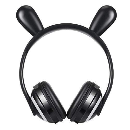Wireless Bluetooth Cat Ear Headphones, with 7 Colors LED Light Flashing Glowing On-Ear Stereo Gaming Headset Compatible with Smartphones PC Tablet for Girls Kids (Pink)