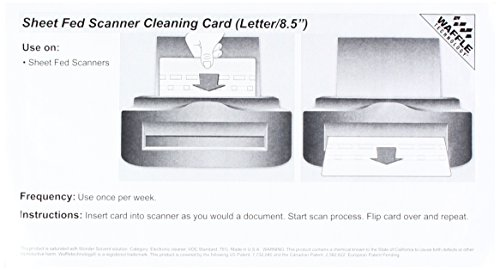 Sheet Fed Scanner Cleaning Card Featuring Waffletechnology (1)