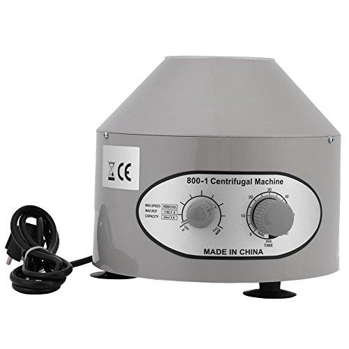 1 stück Desktop Elektrische Laborzentrifuge Tischzentrifuge Medizinische Praxis niedriger Drehzahl 4000 rpm 6x20 ml EU 220 V mit Einstellbaren Geschwindigkeiten und Zeitmesser