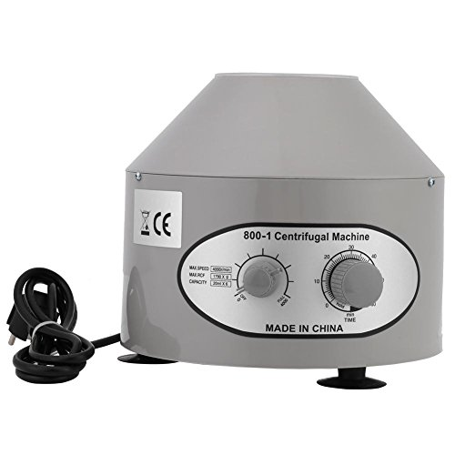Zentrifuge, 220V 25W Elektrische Zeitgesteuert Tischzentrifuge 4000 rpm Laborzentrifuge für Krankenhaus und Labor, 22 * 24.5 * 11cm (Zentrifugalrohr ist NICHT enthalten)