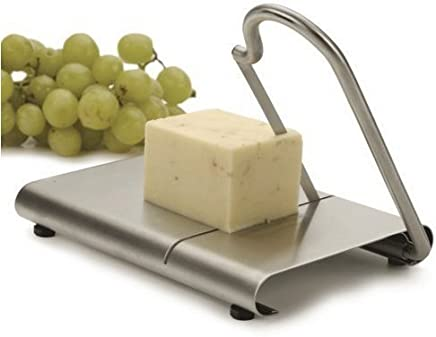 The Garden Star Stainless Steel Cheese Slicer Cutting Board & Free Hand-held Cheese Slicer Gift