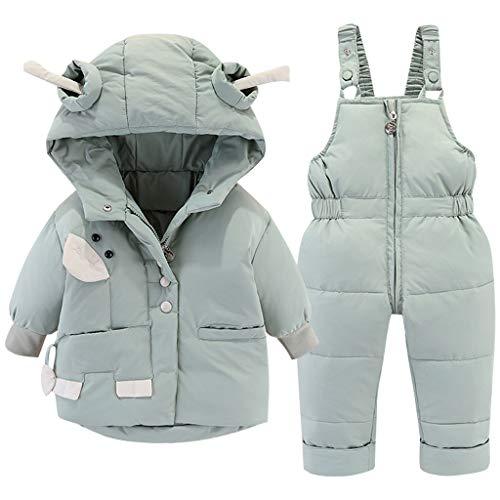 Trajes de Nieve Bebé Invierno Encapuchado Abajo Chaqueta de Nieve + Pantalones de Esquí...