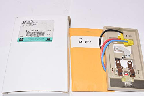 White-Rodgers 1A10-651 Light Duty Line Voltage Mechanical Thermostat with Two Di, Grey