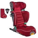Chicco Fold&Go i-Size - Silla de coche isofix, 100-150 cm niño (de 3 a 12 años aprox), plegable y compacta, color roja (Red Passion)