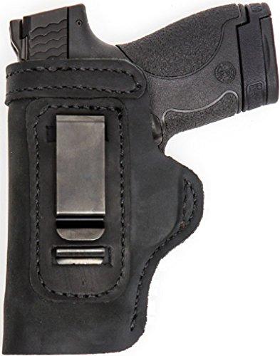 Custom Made Hand FIT Leather Holster Black RH Right OWB/LH Left IWB Glock 40 MOS