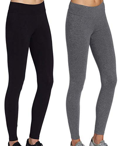 iloveSIA jogginghosen damen sport Stretch Leggings grau+Schwarz Strumpfhosen jogging damen hose,L