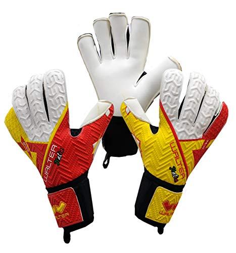 WALTER Torwarthandschuhe Modell Spanien (10, rot/gelb)