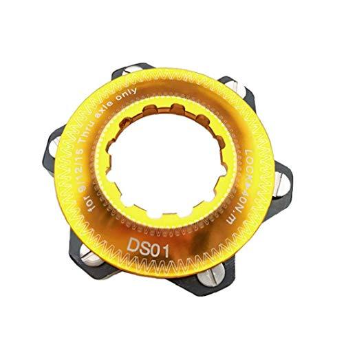 ZYCX123 Bike Hub Centerlock bis 6-Loch-Adapter Center Lock-Umwandlung 6-Loch Bremsscheibe Center Lock für 6 Bolt (goldene)
