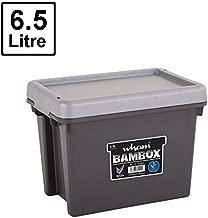 Wham 31102 Bam Storage Box with Lid, Graphite/Silver - 29H X 19W X 21.50D cm